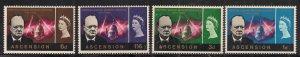 Ascension Island 1966 QE2 Set Churchill Commemoration Umm SG 91 - 94 ( 199 )