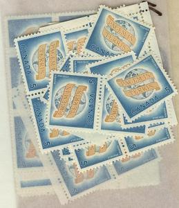 Canada USC #416 Mint (100) Inc. Blocks 5c World Peace - F- VF-NH