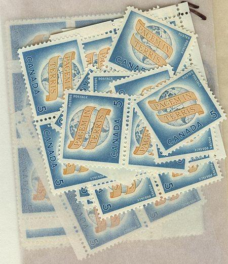 Canada USC #416 Mint (100) Inc. Blocks 5c World Peace - F- VF-NH