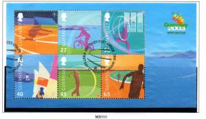 Guernsey Sc 800a 2003 Island Games stamp sheet used