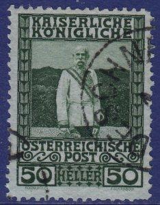 Austria - 1908 - Scott #121 - used - DESCHNA pmk Czech Republic