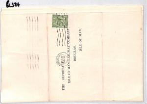 BL384 1928 GB Isle of Man Railway Co IOM Douglas Cover x 5 Items {samwells} PTS