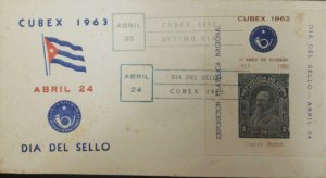 A) 1963, CUBA, SEAL DAY, 50 YEARS OF ISSUE, CARLOS ROLOFF, CANCELLED