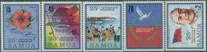 Samoa 1987 SG744-748 25th Anniversary set MNH