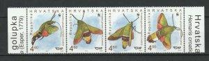 Croatia 2012 WWF Moths 4 MNH stamps