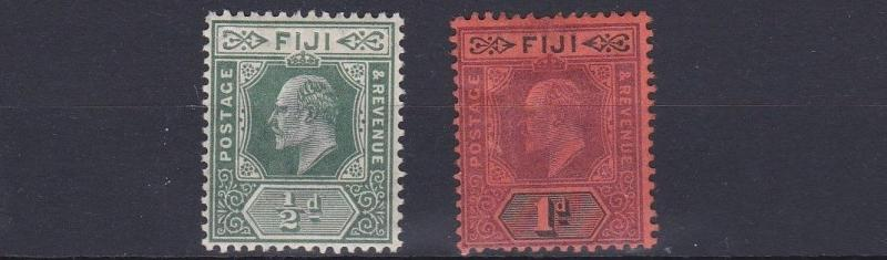 FIJI  1904 - 09    SG 115 + 116   VALUES TO 1D    MH  CAT £56