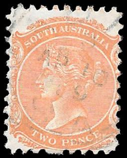 1876 SOUTH AUSTRALIA SC# 65 USED - CV $.25-$1 - GREAT STAMP