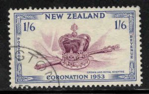 New Zealand Scott 284 Used 1953 Key stamp