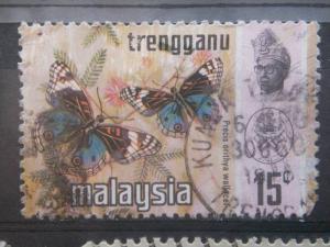 TRENGGANU, 1971, used 15c, Butterfly Scott 101