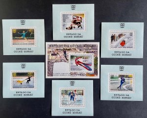 Stamps Deluxe blocs + S/S Olympic Games Innsbruck 76 Guinea Bissau Perf.
