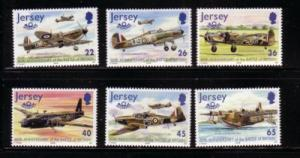 Jersey Sc 964-9 2000 60 yrs Battle of Britain stamp set  NH