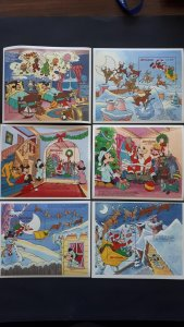 Disney - Sierra Leone 1990. - Christmas ** MNH Complete of 6 x Bl