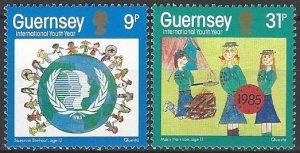 Guernsey  316-7  MNH  UN Youth Year