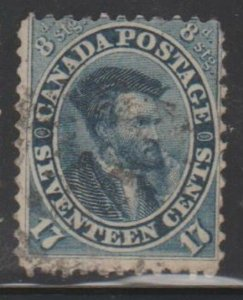 Canada Scott #19a Stamp - Used Single