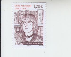 2018 Fr Andorra Lidia Armengol Politician (Scott 797 MNH