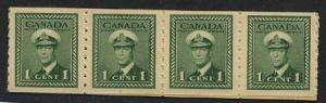 Canada - 1943 KGVI War Coil Strip of 20 mint #263