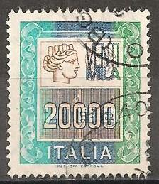 Italy #1297 F-VF Used CV $12.00 (ST403)