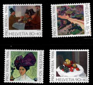 Switzerland Scott B523-B526 MNH** 1986 Art semi postal set