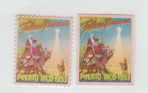 Puerto Rico Charity Cinderella revenue fiscal Stamp 10-7-