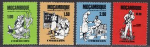 Mozambique MNH 539-42 Day Of Mozambique Woman 1976 SCV 1.90