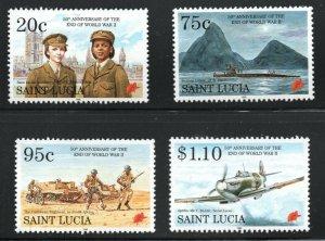 St. Lucia  (1995)  - Scott # 1018 - 1021,   MNH