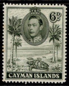 CAYMAN ISLANDS GVI SG122, 6d olive-green, M MINT.