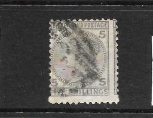 NEW ZEALAND 1874-78  5/-   FSF  QV    FU    SG 186   CP C8a