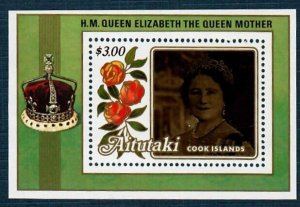 Aitutaki 377 MNH S/S 85th Birthday of Queen Elizabeth (SCV $3.50)