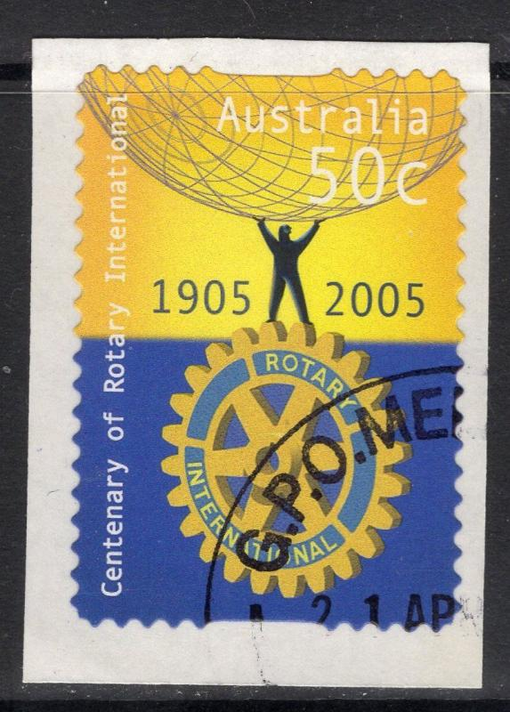 AUSTRALIA SG2518 2005 CENTENARY OF ROTARY SELF ADHESIVE FINE USED