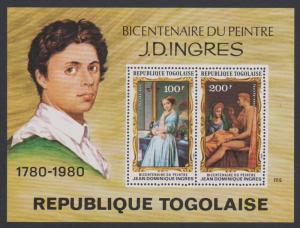Togo Birth Bicentenary of Jean Ingres painter MS SG#MS1486 SC#C428a