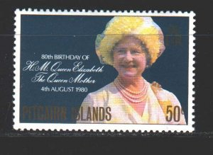 Pitcairn Islands. 1980. 196. Queen mother. MNH.