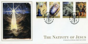 St Helena Christmas Stamps 2020 FDC Nativity of Jesus Angels Magi 4v Set