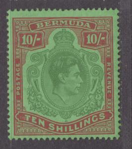 **Bermuda, SC# 126b, Perf 14, MNH, VF Single Stamp, CV $400.00