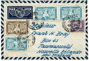 Indochina 1947 Saigon cancel on airmail cover to NEW ZEALAND