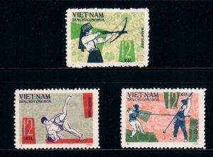 Vietnam 1966 MNH Stamps Scott 419-421 Sport Wrestling Archery