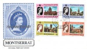 Montserrat 385-388 U/A FDC