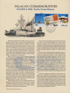 Palau 248a on Souvenir Page - Aircraft, Ships, Stamp on Stamp, PACIFICA