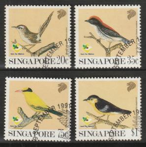 Singapore 1991 Garden Birds set of 4V CTO SG#663-666
