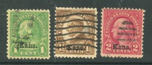 1929 issue #658, 659, 660 KANS OVPTS ⭐⭐⭐⭐⭐⭐