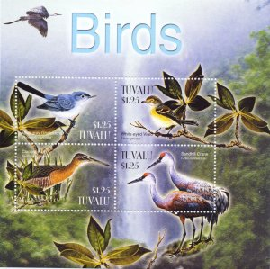 Tuvalu. 2003. Small sheet 1133-6. Birds fauna. MNH.