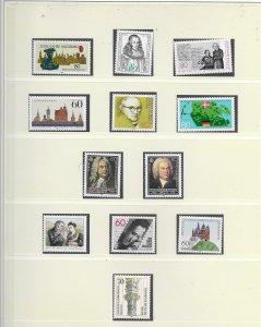 GERMANY 1985 ISSUES U/MINT