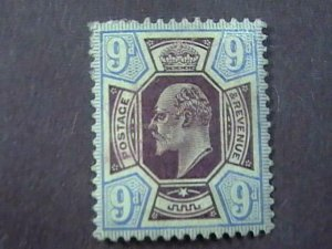 GREAT BRITAIN # 136--MINT/NO GUM----ULTRA & DULL VIOLET----1902-11