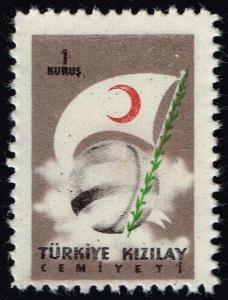 Turkey #RA208 Globe and Flag; MNH (0.50)