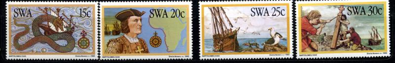 1982 South West Africa Scott 491-494 Mint NH Ship Discovery