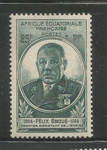FRENCH EQUATORIAL AFRICA  157  MINT HINGED,  EBOUE ISSUE