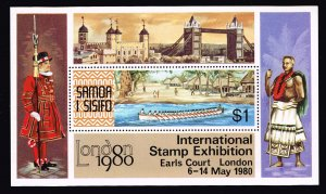 SAMOA STAMP I SISIFO 1980 MNH STAMPS  S/S