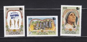 Uganda 463-465 MNH National Womens Day