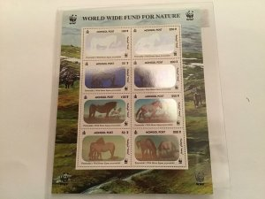 Przewalski's Wild Horses 2000 Hologram mint never hinged  stamps Sheet R23517