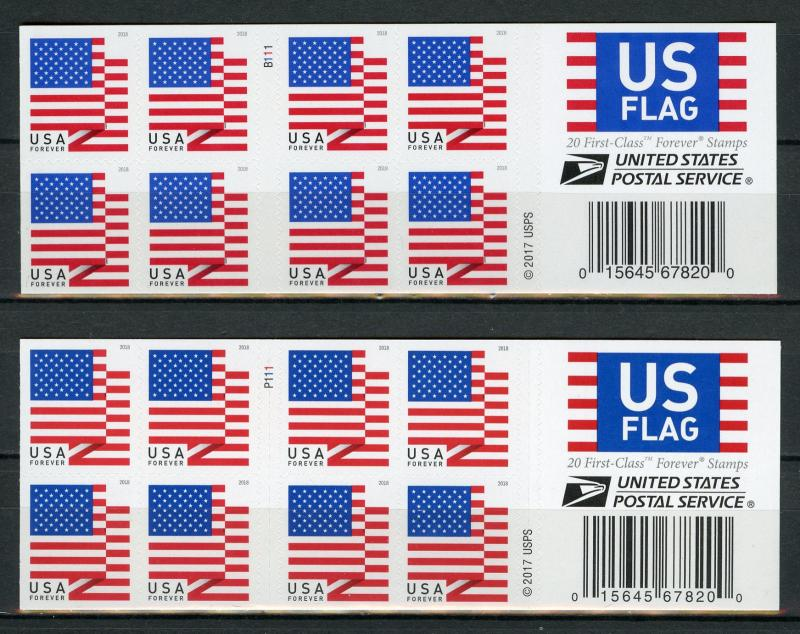 USA US 2018 MNH Flags Stars & Strips 2x 20v S/A Booklet APU BCA