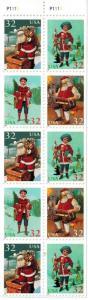 U.S. #3007c Never Folded Pane Christmas MNH 45% of SCV $9 **FREE SHIPPING**
